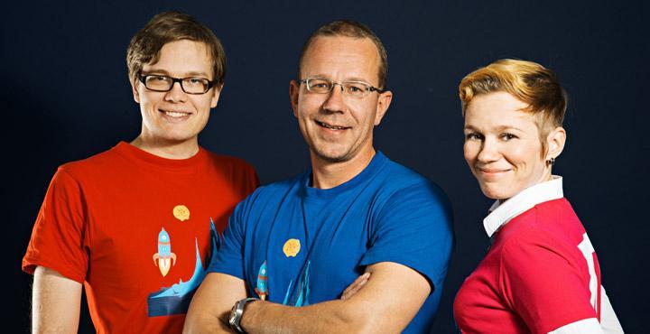 J-P Kaleva, Koopee-HIltunen and Suvi Latva